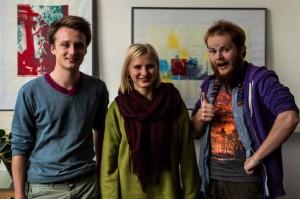 Richard, Pauline, Martijn (v.l.)